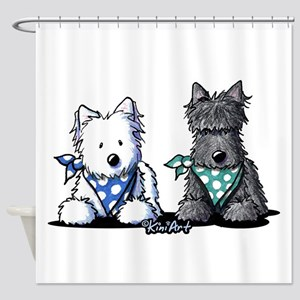 KiniArt™ Terrier Twosome Shower Curtain