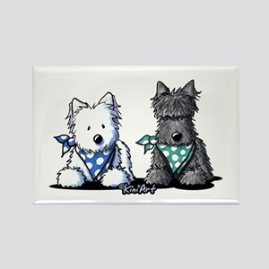 KiniArt™ Terrier Twosome Rectangle Magnet