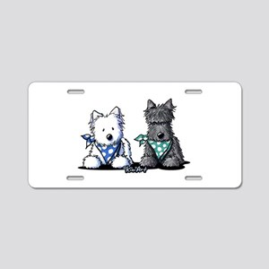 KiniArt™ Terrier Twosome Aluminum License Plate