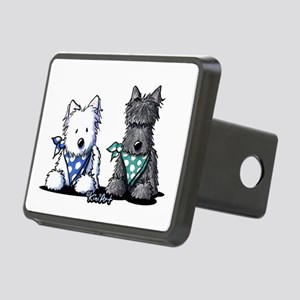 KiniArt™ Terrier Twosome Rectangular Hitch Cover