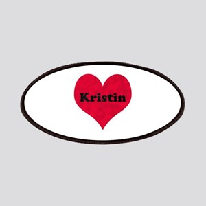 Kristin Leather Heart Patch