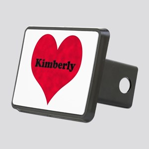 Kimberly Leather Heart Rectangular Hitch Cover