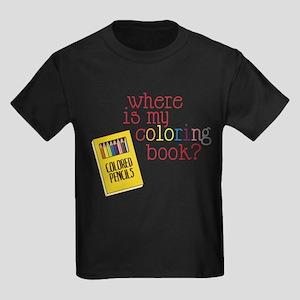 Coloring Book Kids Dark T-Shirt
