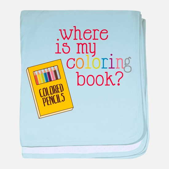 Coloring Book baby blanket