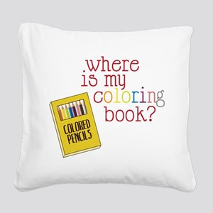 Coloring Book Square Canvas Pillow