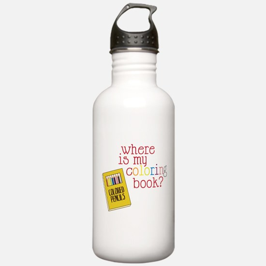 Coloring Book Water Bottle