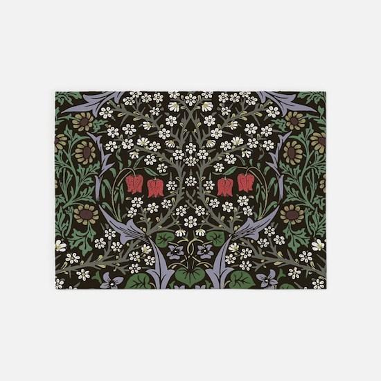 William Morris Art Print Blackthorn 5'x7'Area Rug