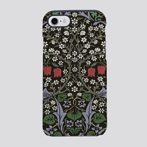 William Morris Art Print Black iPhone 7 Tough Case