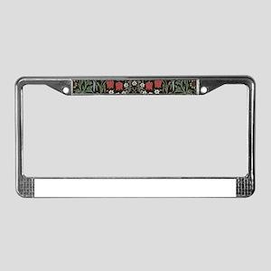 William Morris Art Print Black License Plate Frame