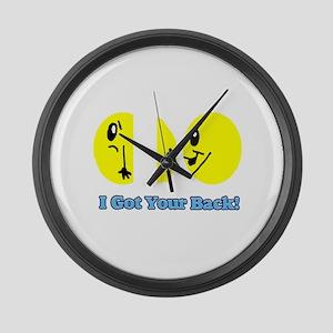 I Got Your Back Smileys Large Wall Clock
