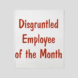 Disgruntled Employee Throw Blanket