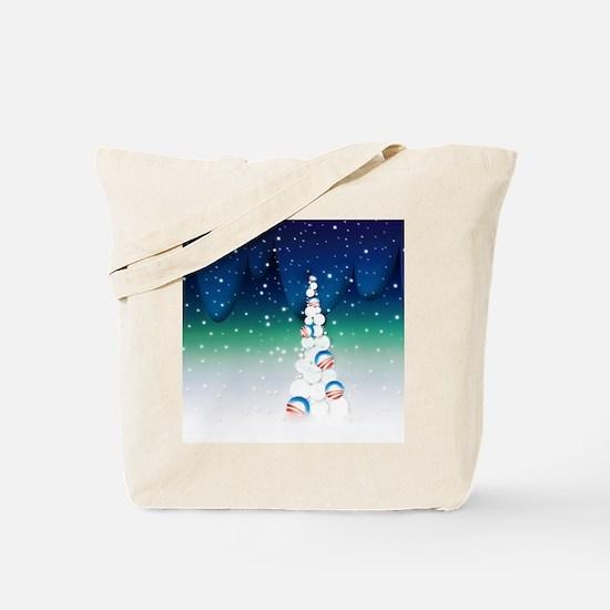 Barack Obama Snowball Christmas Tree Tote Bag