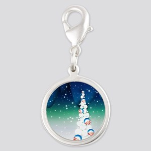 Barack Obama Snowball Christmas Tree Silver Round