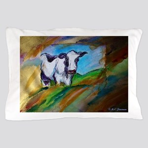 Cow! Bright, animal art! Pillow Case