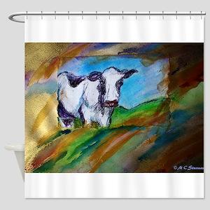 Cow Bright Animal Art Shower Curtain