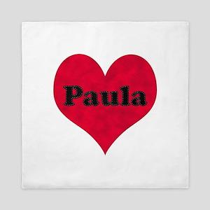 Paula Leather Heart Queen Duvet