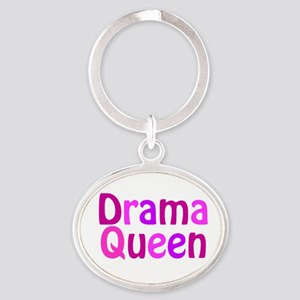 Drama Queen Oval Keychain