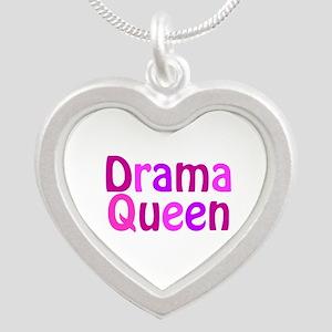 Drama Queen Silver Heart Necklace