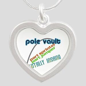 Pole Vault Jumper Sprinter Insane Silver Heart Nec
