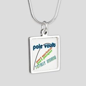 Pole Vault Jumper Sprinter Insane Silver Square Ne