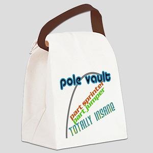 Pole Vault Jumper Sprinter Insane Canvas Lunch Bag