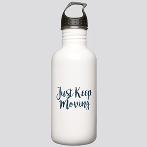 Just Keep Moving Patte Stainless Water Bottle 1.0L