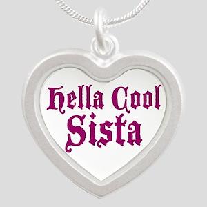 Hella Cool Sista Silver Heart Necklace