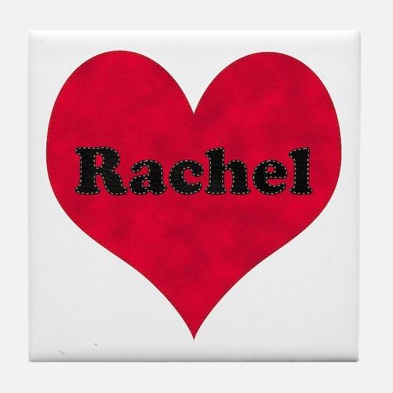 Rachel Leather Heart Tile Coaster