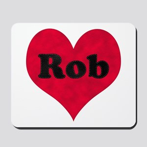 Rob Leather Heart Mousepad