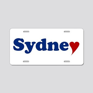 Sydney with Heart Aluminum License Plate