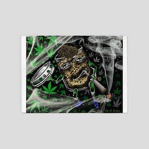 Full of Smoke-Jar Man-5'x7'Area Rug