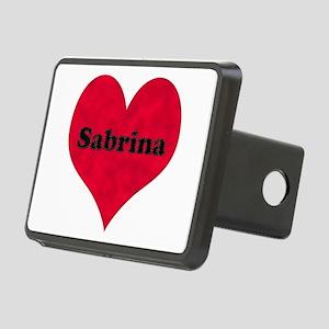Sabrina Leather Heart Rectangular Hitch Cover