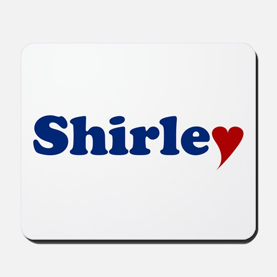 Shirley with Heart Mousepad
