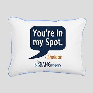 Sheldon Cooper My Spot Rectangular Canvas Pillow