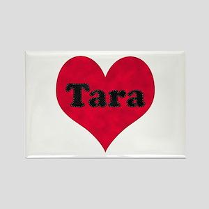 Tara Leather Heart Rectangle Magnet