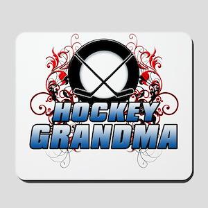 Hockey Grandma (cross) Mousepad