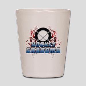 Hockey Grandma (cross) Shot Glass