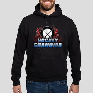 Hockey Grandma (cross) Hoodie (dark)