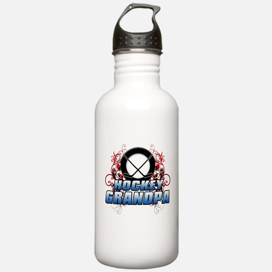 Hockey Grandpa (cross).png Water Bottle