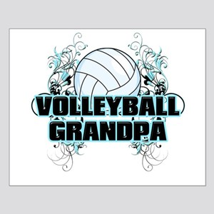Volleyball Grandpa (cross) Small Poster