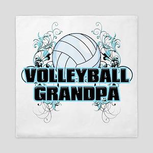 Volleyball Grandpa (cross) Queen Duvet