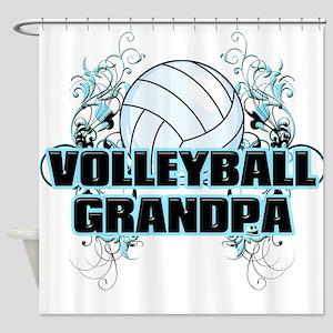 Volleyball Grandpa (cross) Shower Curtain