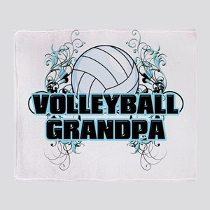 Volleyball Grandpa (cross) Throw Blanket