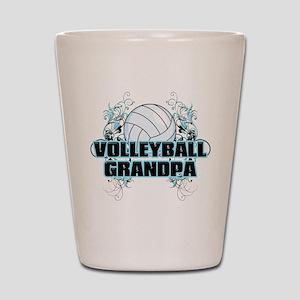 Volleyball Grandpa (cross) Shot Glass
