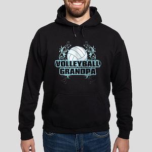 Volleyball Grandpa (cross) Hoodie (dark)