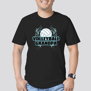 Volleyball Grandpa (cross) Men's Fitted T-Shir