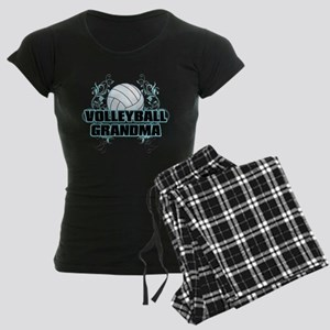 Volleyball Grandma (cross) Women's Dark Pajama