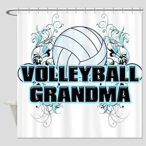 Volleyball Grandma (cross) Shower Curtain
