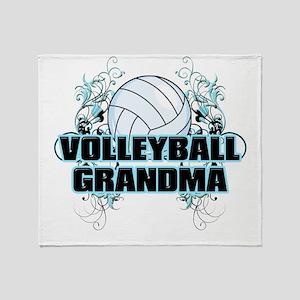 Volleyball Grandma (cross) Throw Blanket