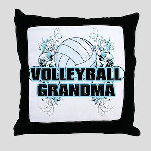 Volleyball Grandma (cross) Throw Pillow
